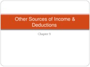 ACC 742 Lecture 9 Other Sources of Income and Deductions Fall 2010