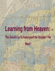 Feb 3_The Jesuits as Scholars and the Utopian Far West