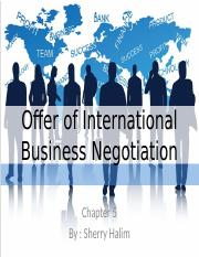 business negotiation chapter 5