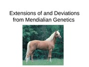 Test 4- Extensions of and Deviations from Mendialian Genetics