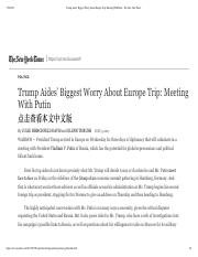 Trump Aides' Biggest Worry About Europe Trip_ Meeting With Putin - The New York Times.pdf