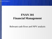 07 relevant cash flows and NPV analysis