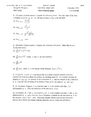 Math 1A - Fall 1998 - Bergman - Midterm 1