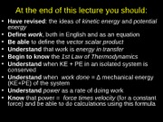 L 6 Energy,Conservation of Energy  FINAL 2011-12-1