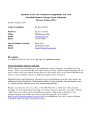 Syllabus FNAN301 dist (DL1) fall 2014 2014.08.06