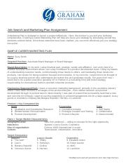 Job Search and Marketing Plan Assignment