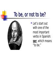 the verb ser.ppt
