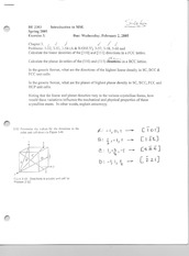 Midterm Exam 3 Spring 2005 Solutions