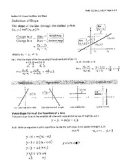 Linear Function and Slope