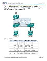 5.1.3.7m Lab - Configuring 802.1Q Trunk-Based Inter-VLAN Routing.docx