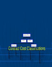 4 Contract Cost Classifications