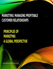 1 Managing Profitable Customer Relationships