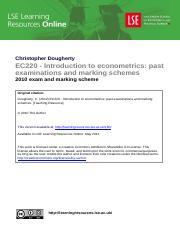 2009 exam and marking scheme %28EC220%29 - Christopher
