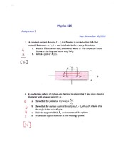 PHYS 326 Assignment 5 Solutions