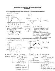Worksheet Key-Potentials and Fields, Capacitors-Color