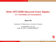 Lecture 2.4 on Advanced Linear Algebra