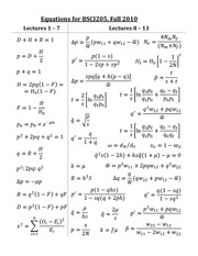 BSCI205_Test_2_Equations_F2010