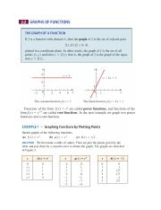 2.2 Graphs of Functions
