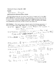 2009 Fall Exam #1 Solutions