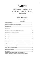CHE - 113 LAB MANUAL