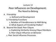 Lecture 12 2015 Peer Influences for Posting