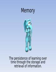 Memory Powerpoint for CH 8 [Autosaved].ppt