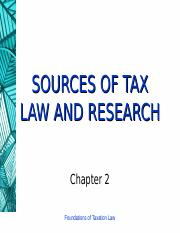 2 (Sources of Tax Law and Research).ppt