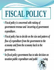 ppt fiscal policy