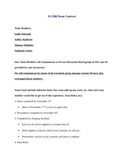 Group Project Contract Example
