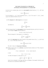 Course Notes on Integration