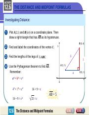 The Distance And Midpoint Formula