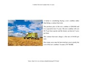 Combine Harvester Example (Buy or Lease)