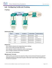 3.2.2.5 Lab - Configuring VLANs and Trunking (1)