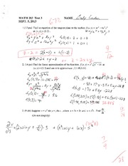MATH 203 STOCK TEST 3 SUMMER 2013