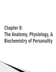 ch. 8 biology behind personality psychology