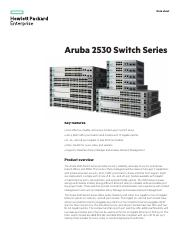 DS Aruba 2530 Switch Series
