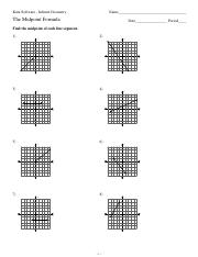 Deriving Midpoint Formula Worksheet: The Midpoint formula worksheet with answer   Kuta Software    ,