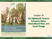 Chapter 18 The 18th century Eurpoean states
