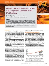 Factors affecting supply and demand of oila and gas