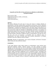 Carriero R - Inequality and the effect of class and income on attitudes to redistribution x RC28