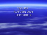 TBS 907 - Autumn 2005- Lecture 9- Options