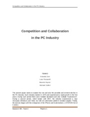 2B - Competion and Collaboration in PC Industry