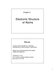 6 Electronic Structure of Atoms