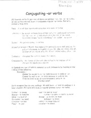 Spanish 1 Conjugating -ar verbs Worksheet