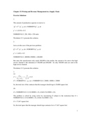 Chapter 15 Answers to exercises