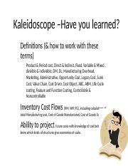 Kaleidoscope –Have you learned.pptx
