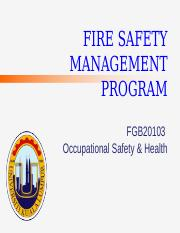 Chapter 7-Fire Safety