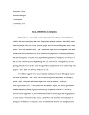 Government Essay 1