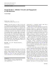 Social Workers' Attitudes Towards and Engagement in Self-Disclosure..pdf
