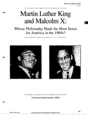 martin luther king and malcolm x dbq essay Comparing martin luther king, jr and malcolm x paragraph essay that students will write about what they have learned by studying dr king & malcolm x.